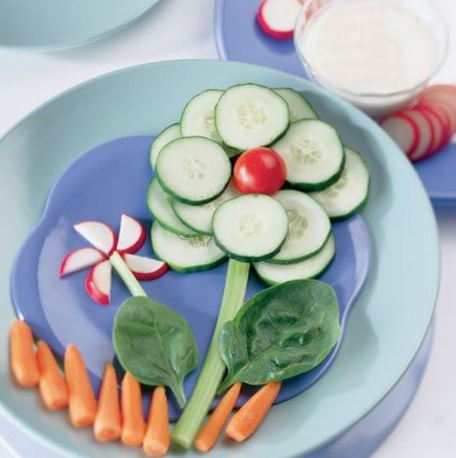 fun way of eating a vegetable plate