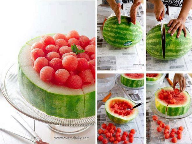 fun way of eating watermelon