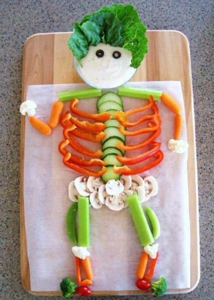 fun way of presenting vegetables
