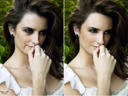 Penelope Cruz before and after