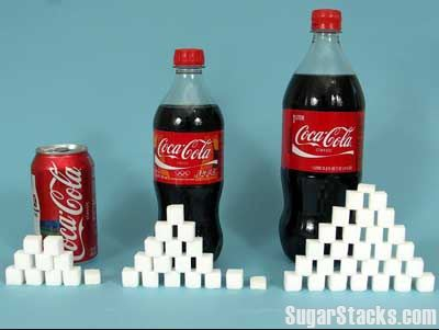 coca cola full of sugar