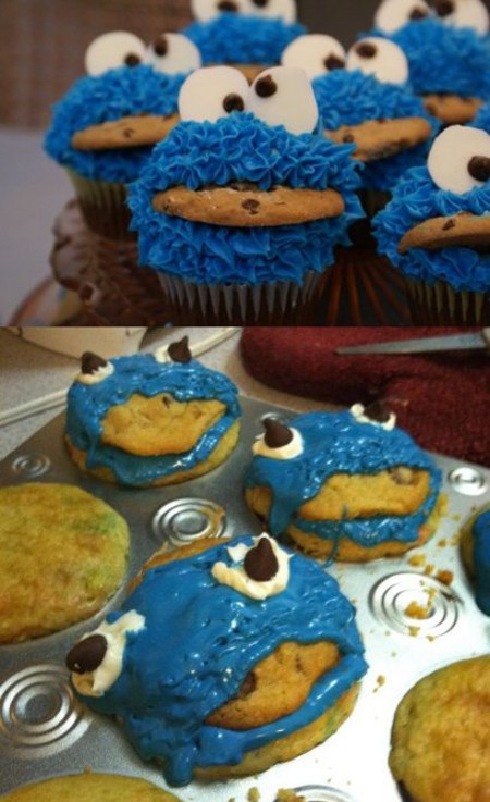 cupcake cookie monster fail